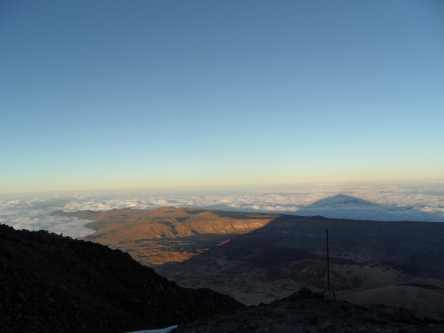 Teideschatten Richtung Gran Canaria